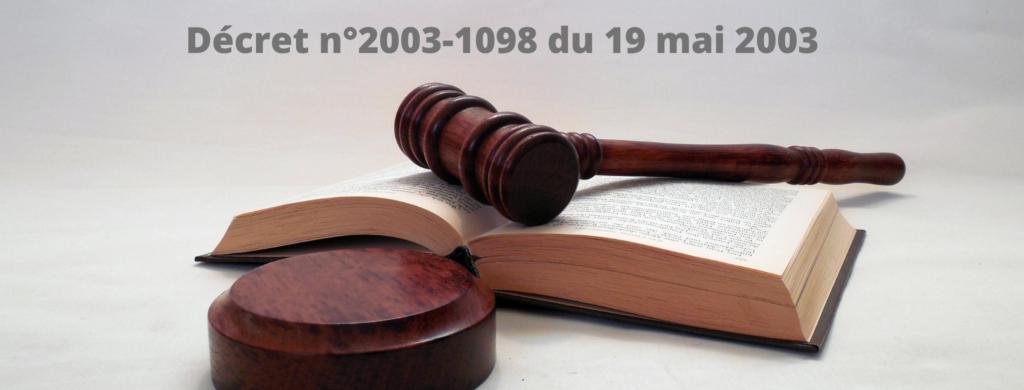décret loi 1098-2003